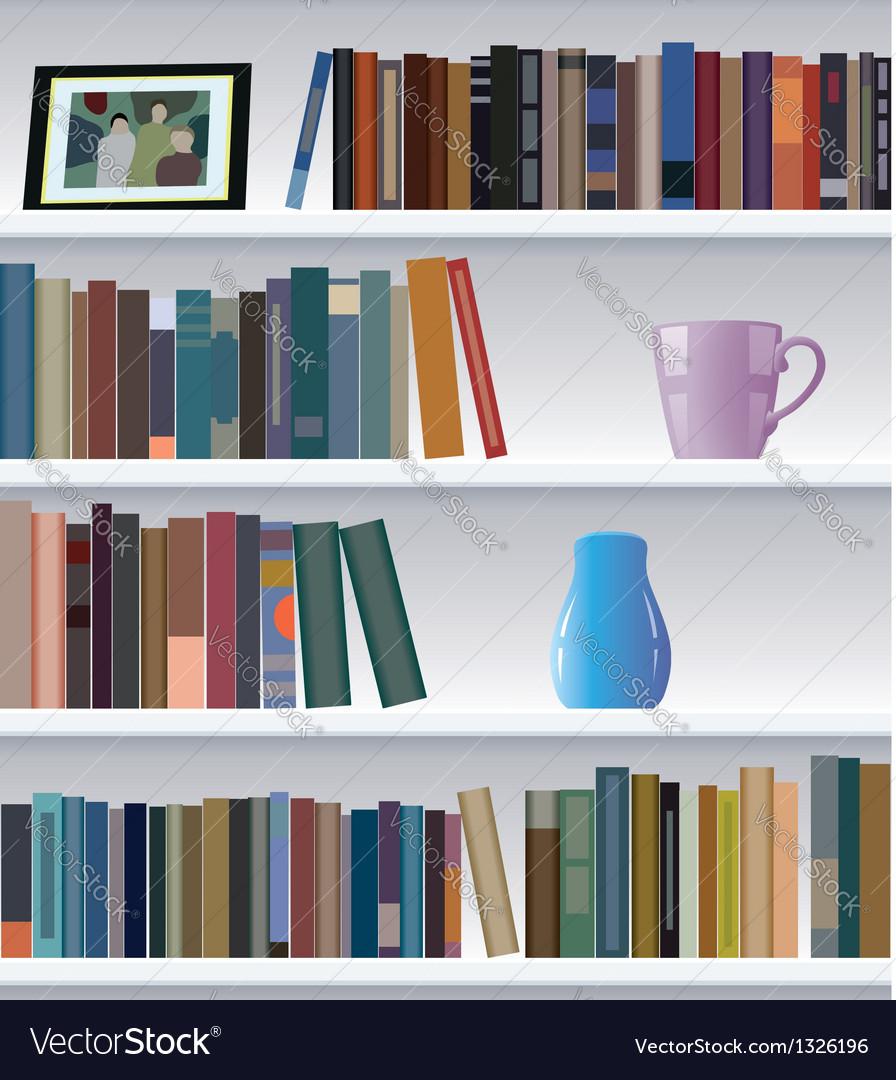 Bookshelf vector   Price: 1 Credit (USD $1)