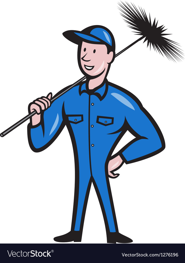 Chimney sweeper cleaner worker retro vector | Price: 1 Credit (USD $1)