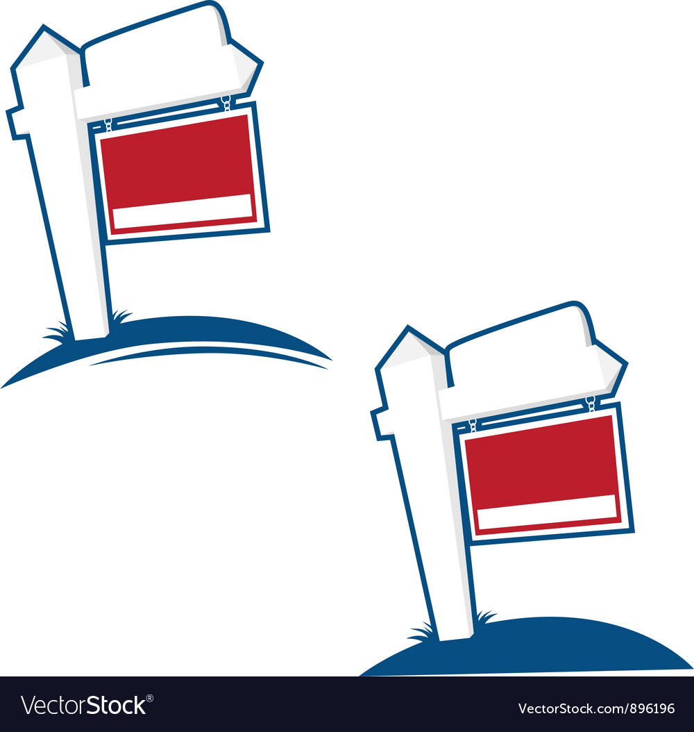 For sale signs vector