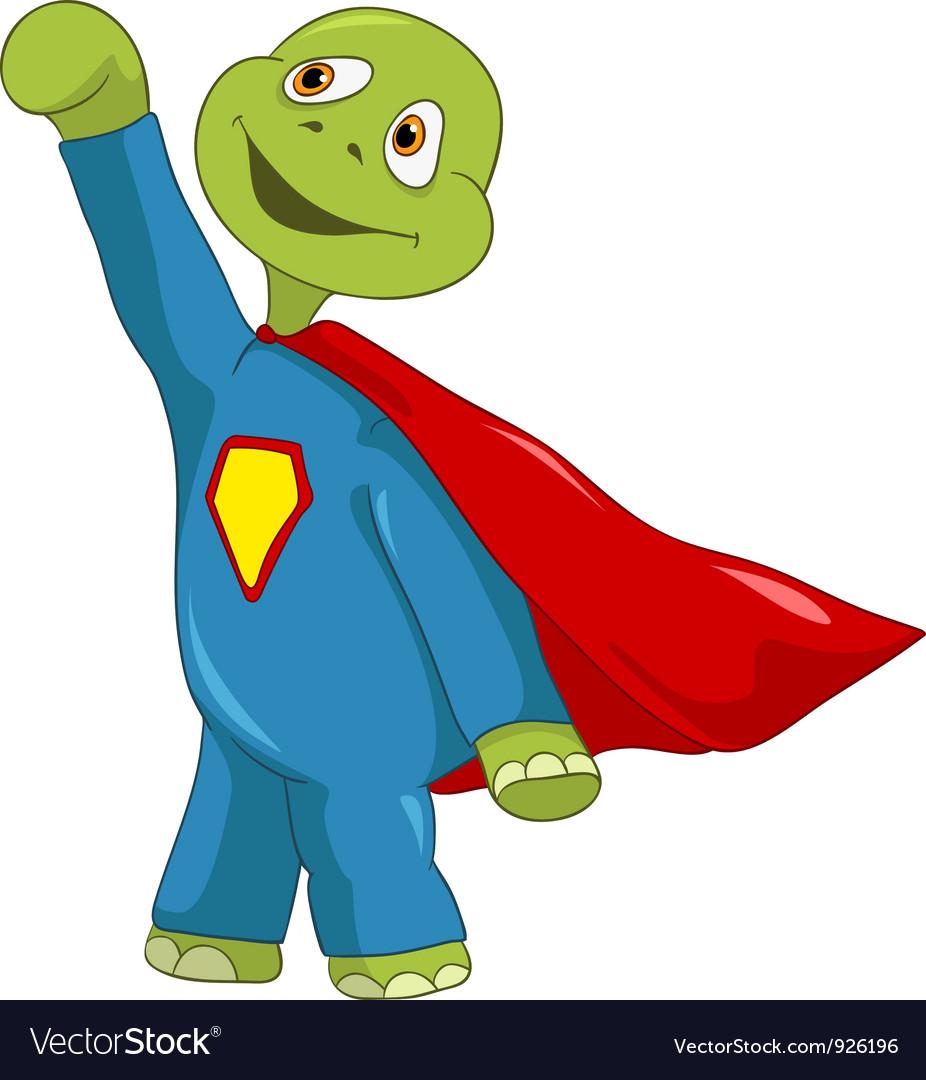 Funny turtle superman vector | Price: 3 Credit (USD $3)