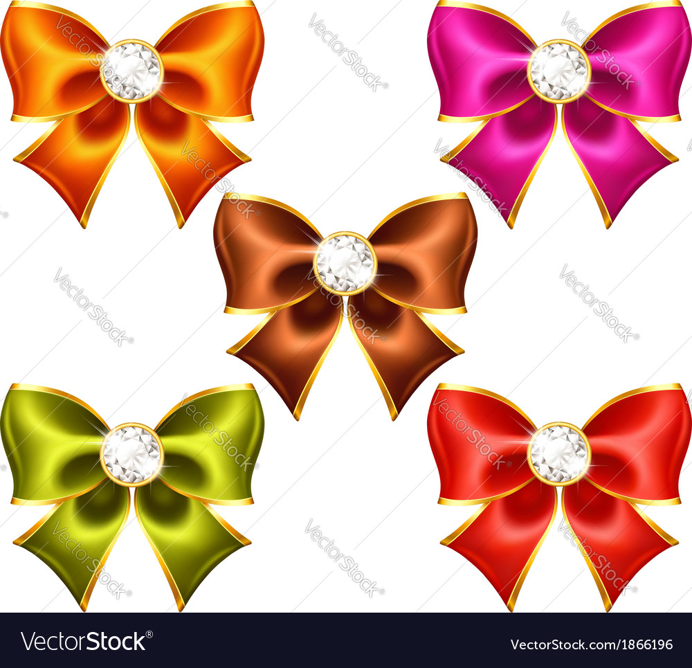 Holiday bows with diamonds vector | Price: 1 Credit (USD $1)
