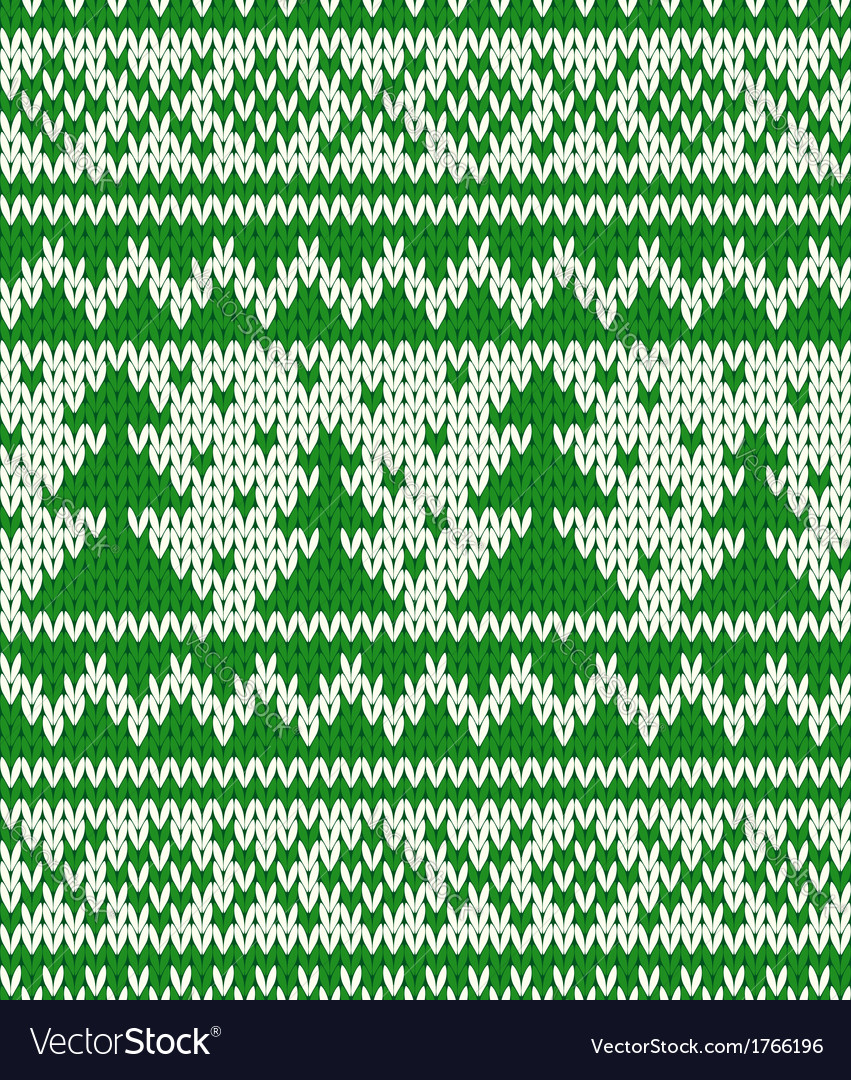 Knitted seamless pattern with fir-trees vector | Price: 1 Credit (USD $1)