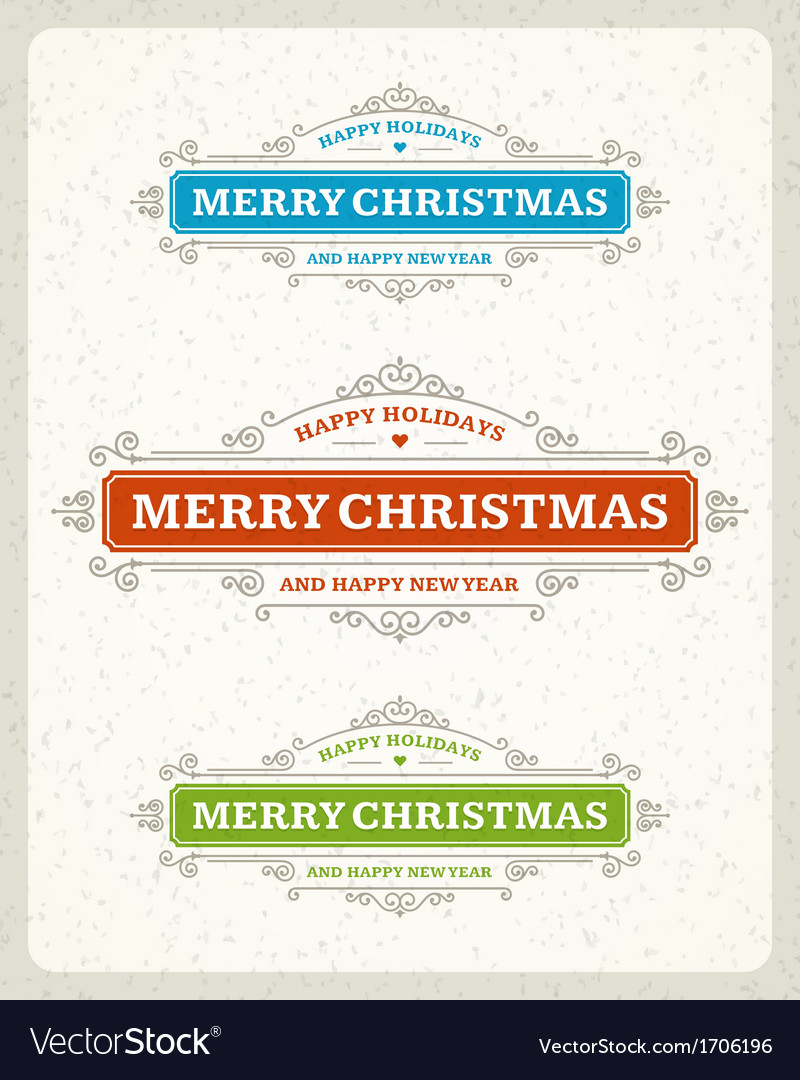 Merry christmas postcard ornament decoration vector | Price: 1 Credit (USD $1)