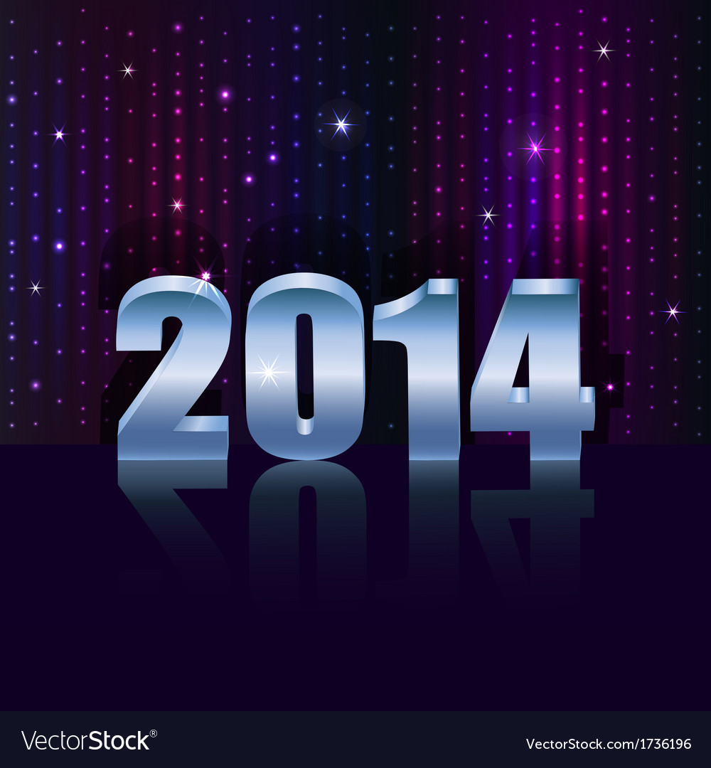 New 2014 year holiday background with copy space vector | Price: 1 Credit (USD $1)