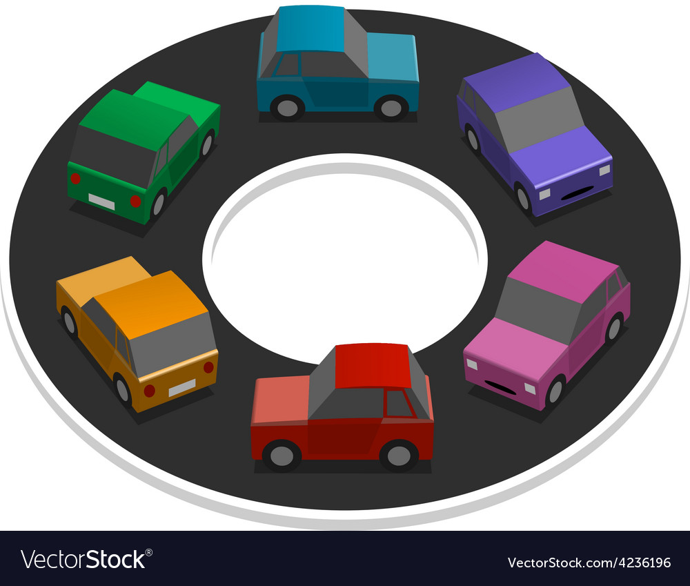 Rainbow cars vector | Price: 3 Credit (USD $3)