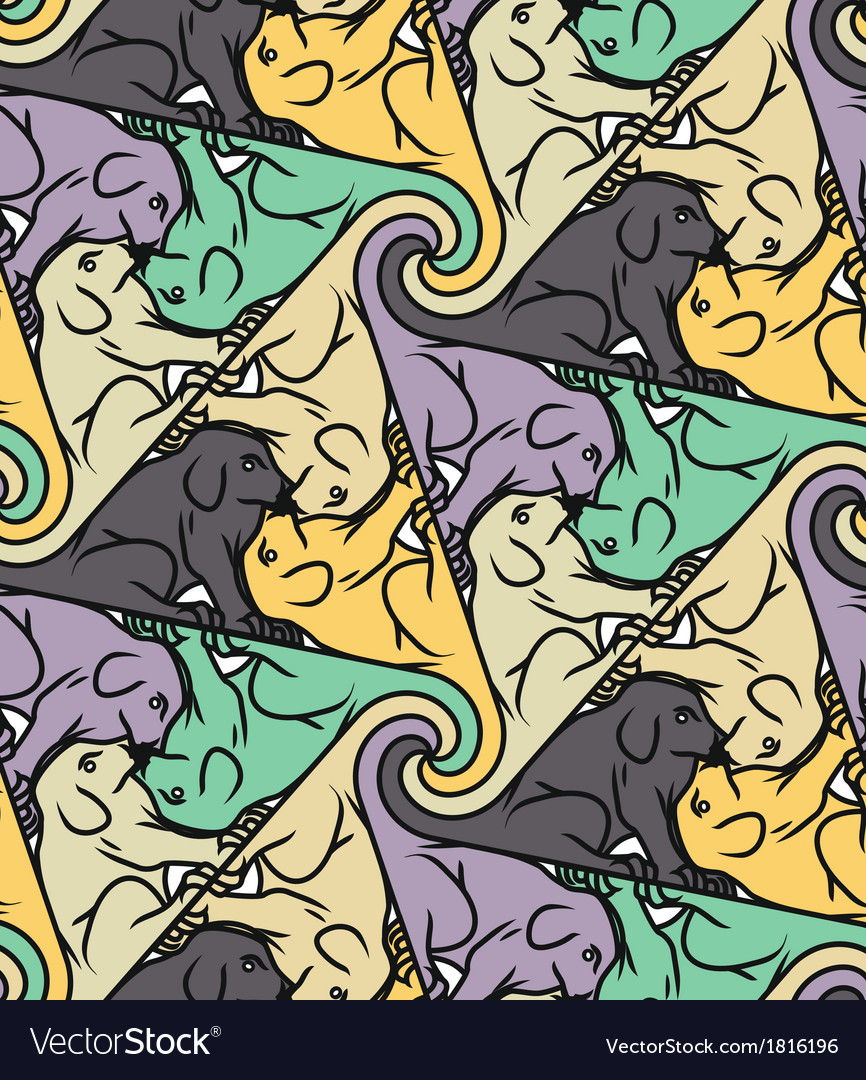 Seamless dog pattern vector
