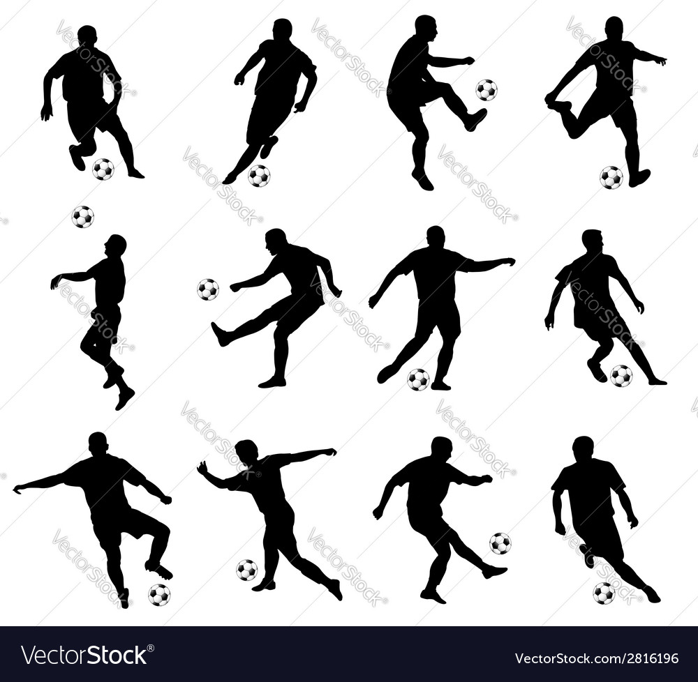 Soccer players vector | Price: 1 Credit (USD $1)