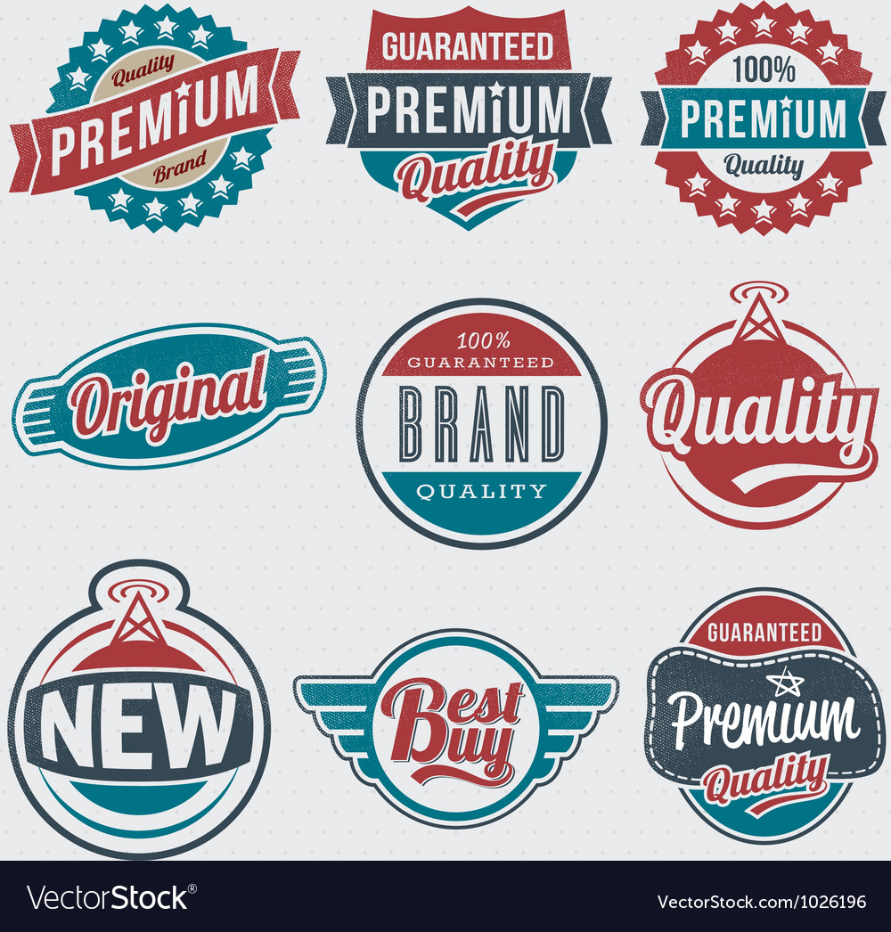 Vintage retro label set vector | Price: 1 Credit (USD $1)