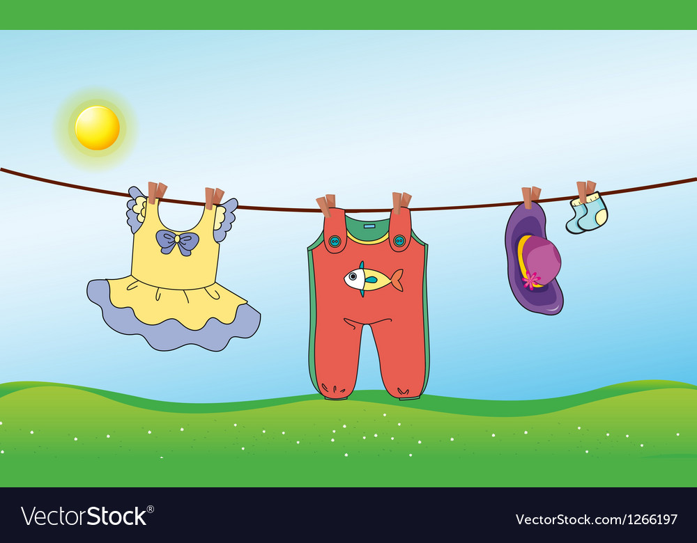 A childs washed clothing vector | Price: 1 Credit (USD $1)