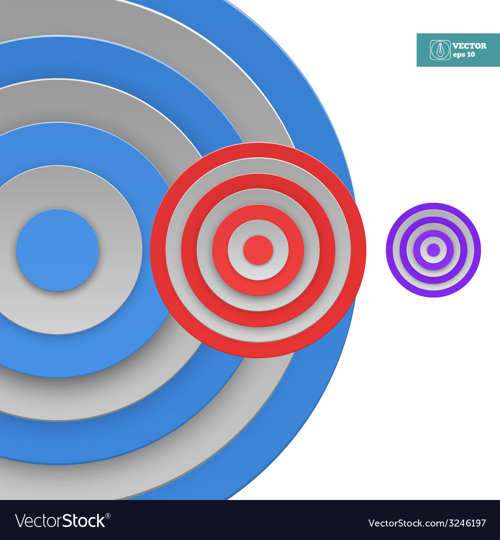 Abstract targets background vector | Price: 1 Credit (USD $1)