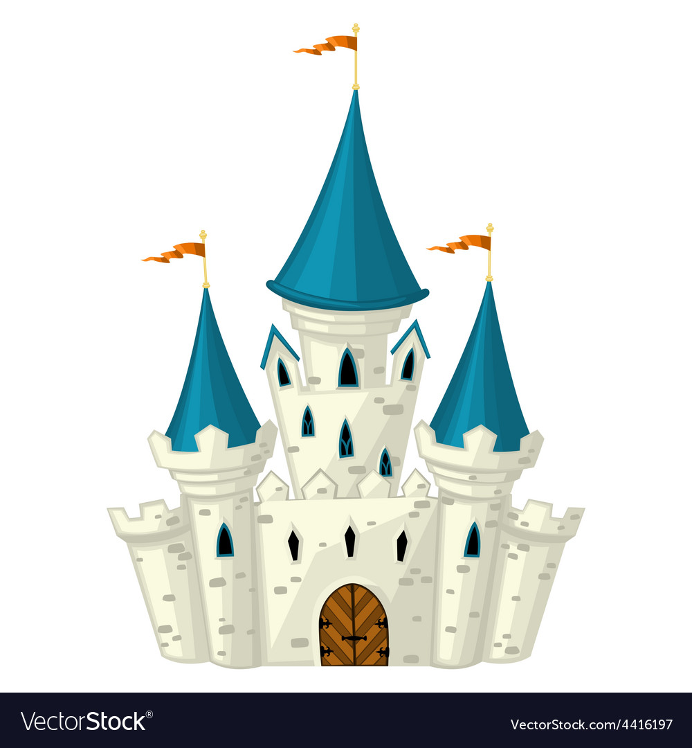 Cartoon fairytale castle vector