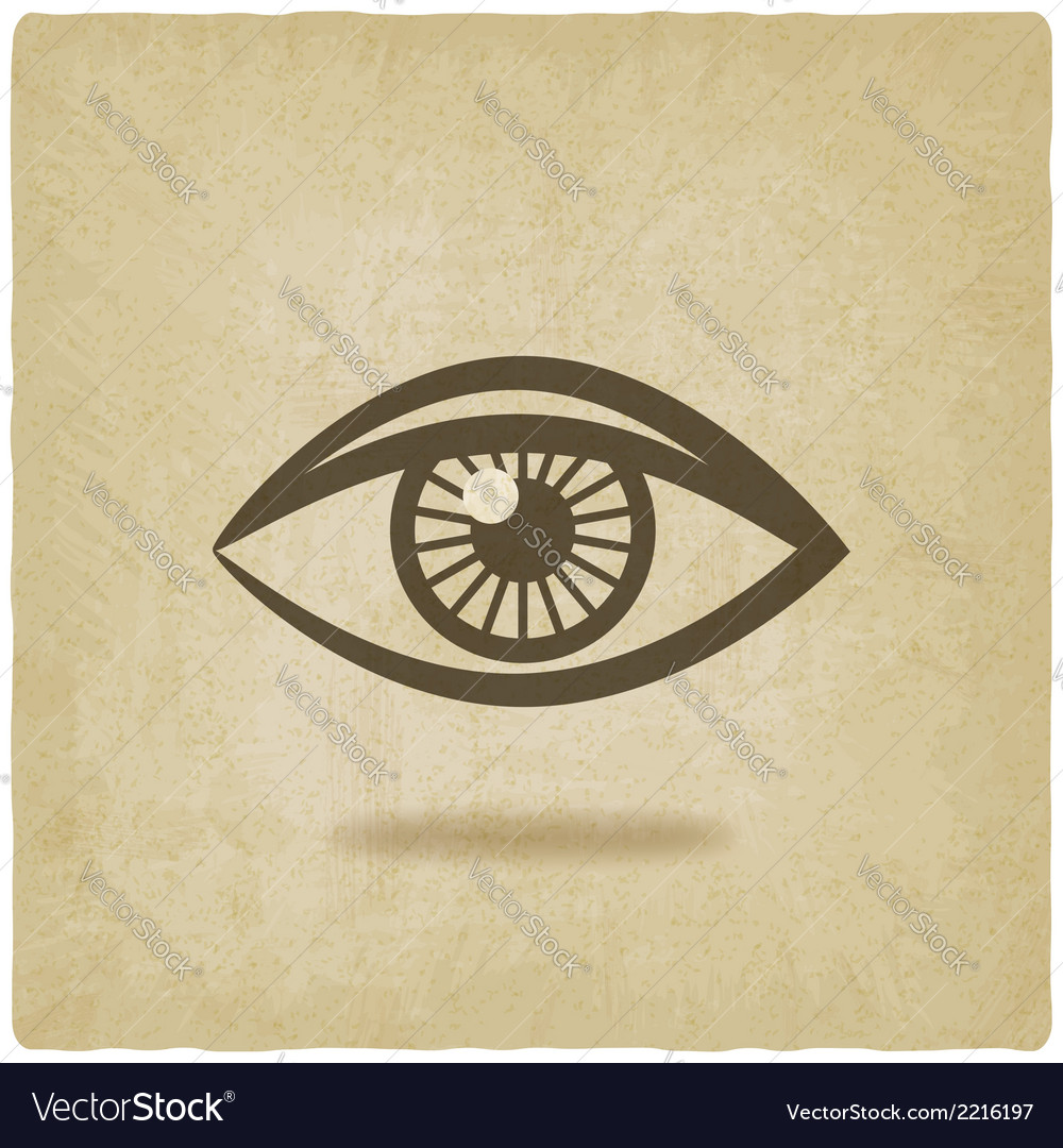 Eye symbol old background vector | Price: 1 Credit (USD $1)