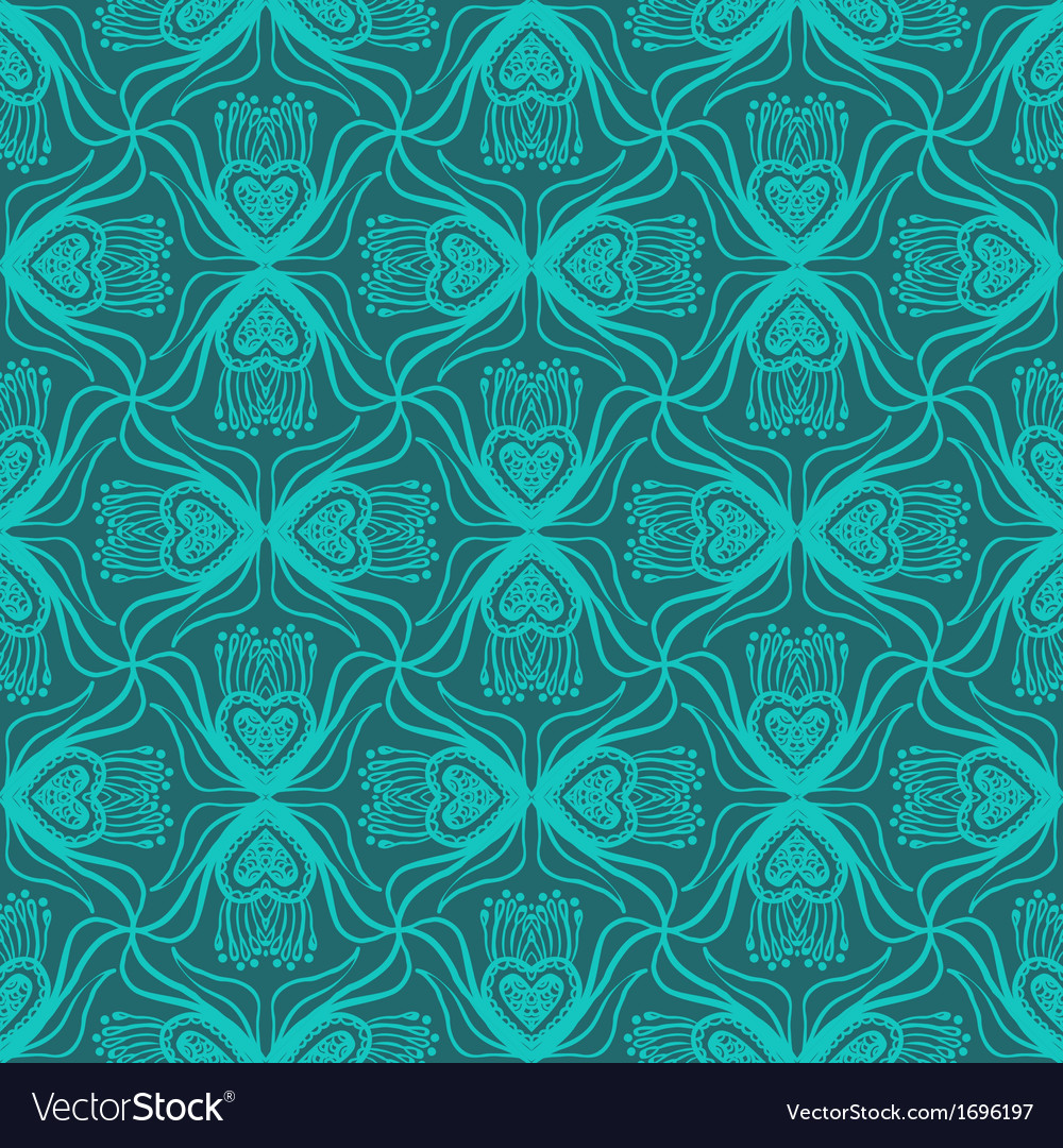 Floral ornamented pattern vector | Price: 1 Credit (USD $1)