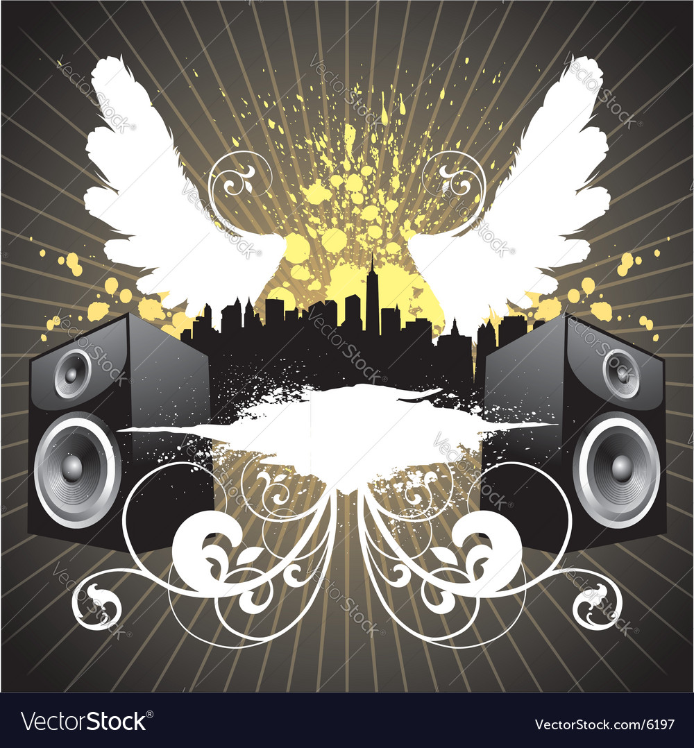 Music city vector | Price: 3 Credit (USD $3)