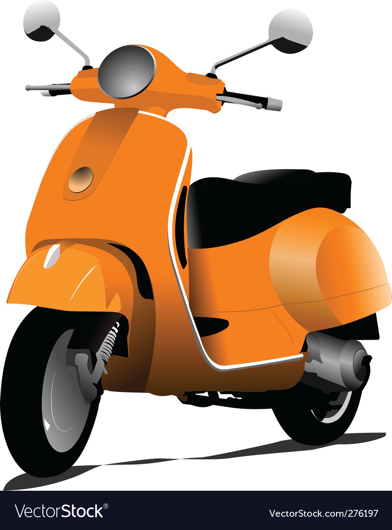 Orange scooter vector | Price: 1 Credit (USD $1)