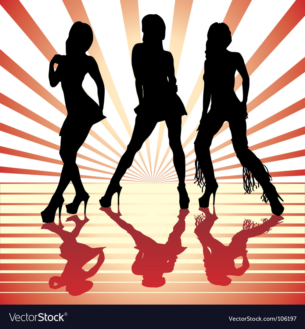 Sexy silhouettes vector | Price: 1 Credit (USD $1)