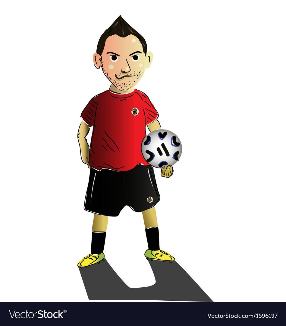 Soccer cartoon vector | Price: 1 Credit (USD $1)