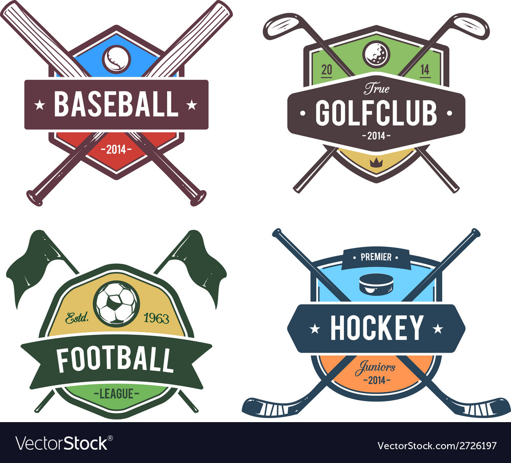 Sport emblems 2 vector | Price: 1 Credit (USD $1)