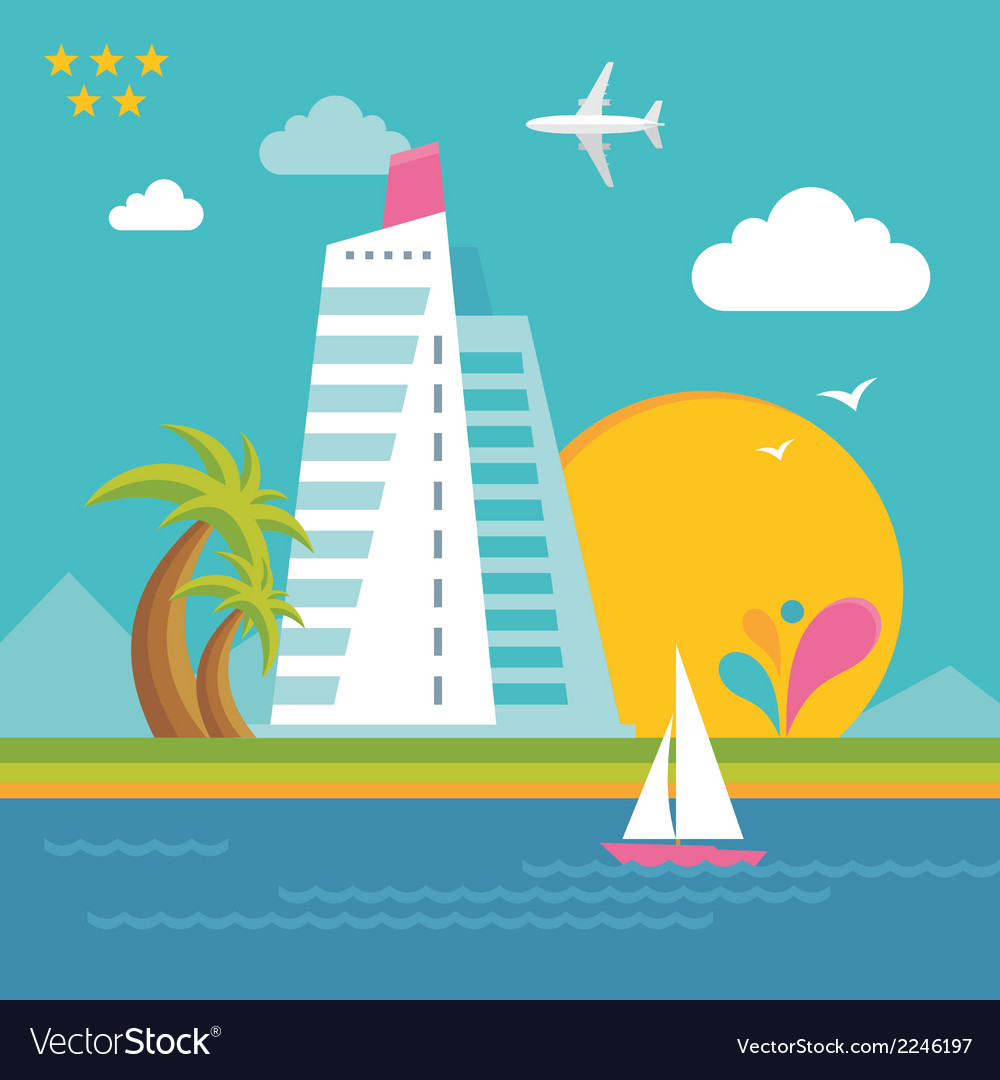 Summer holiday on the sea - creative vector | Price: 1 Credit (USD $1)