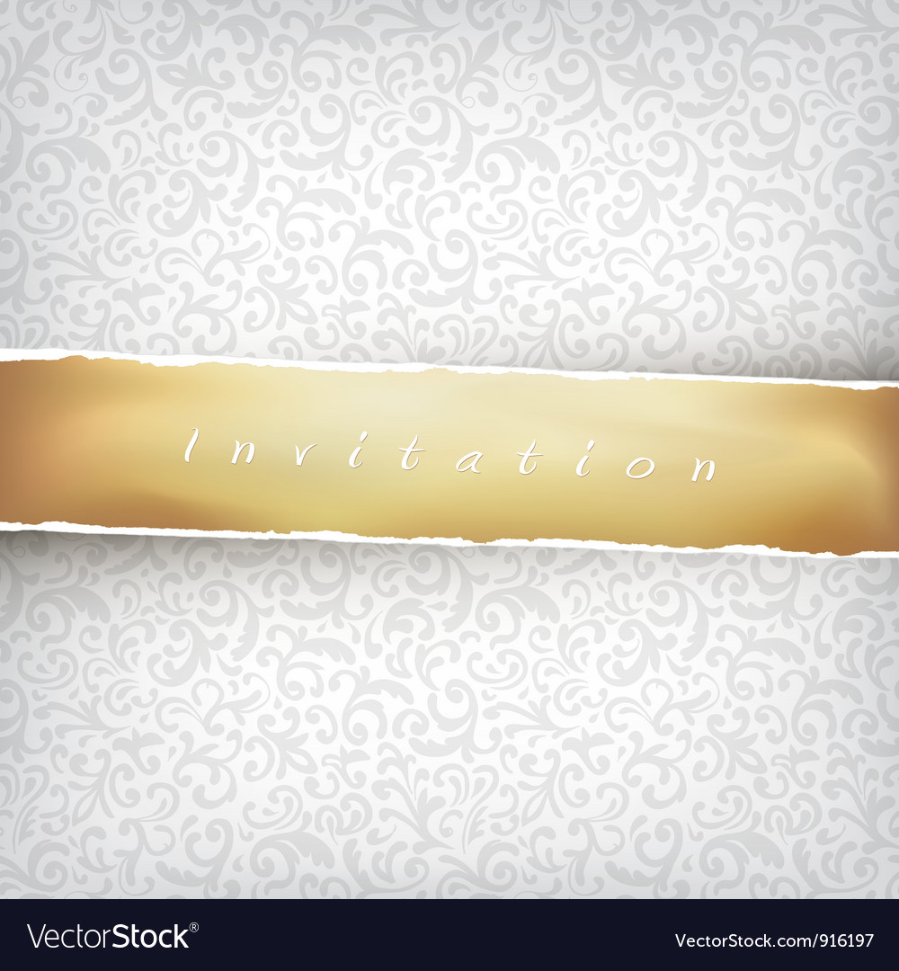Vintage light background with golden tape vector | Price: 1 Credit (USD $1)
