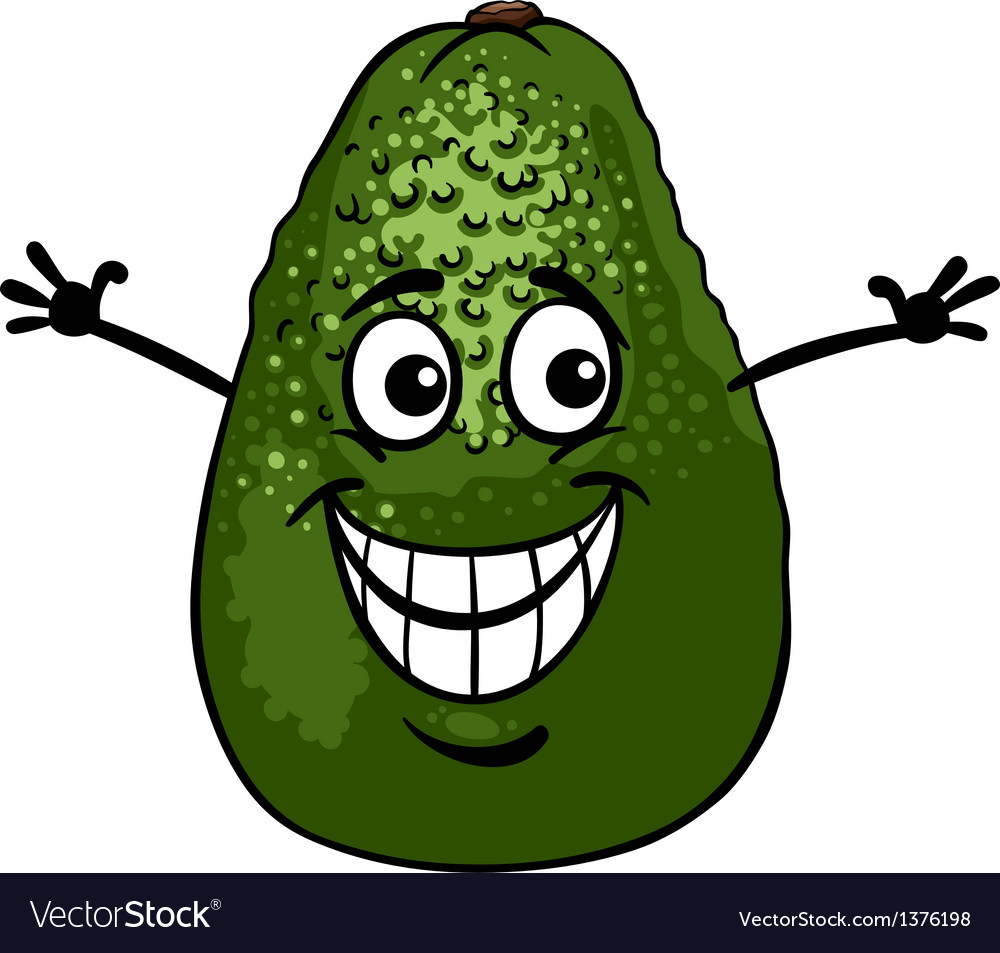 Funny avocado fruit cartoon vector | Price: 1 Credit (USD $1)