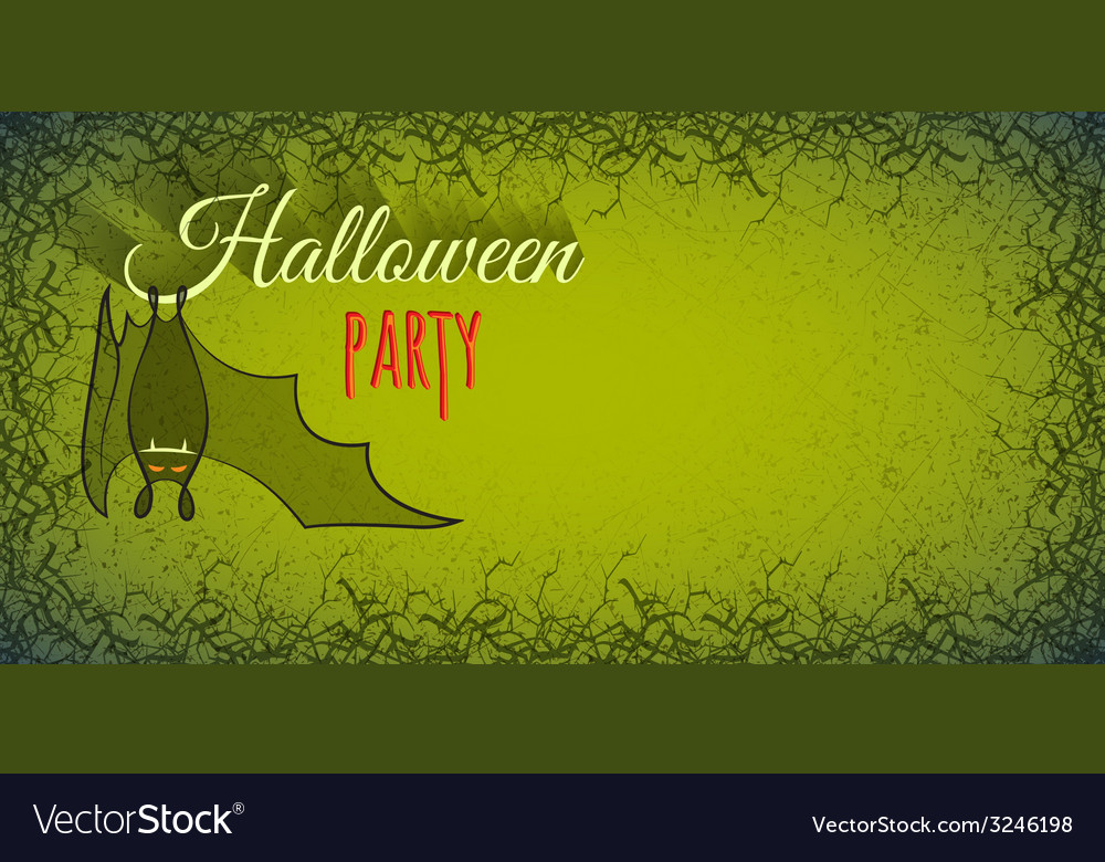 Halloween background with bat vector | Price: 1 Credit (USD $1)