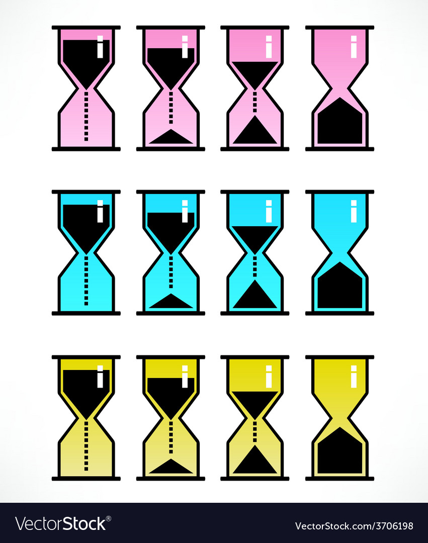 Hour glass icons vector | Price: 1 Credit (USD $1)
