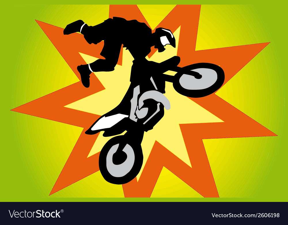 Jumping motorbike vector | Price: 1 Credit (USD $1)
