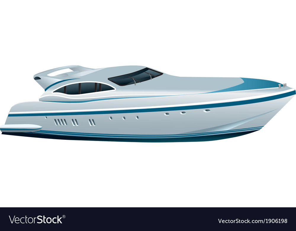 Luxe speed yacht vector | Price: 3 Credit (USD $3)