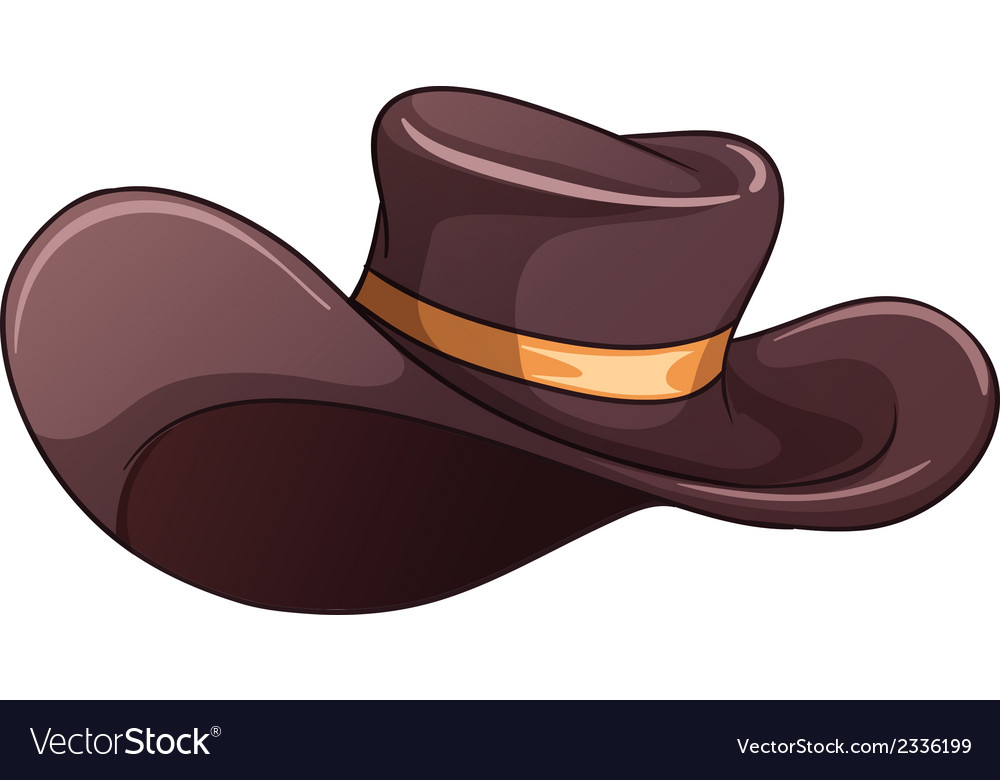 A dark grey hat vector | Price: 1 Credit (USD $1)