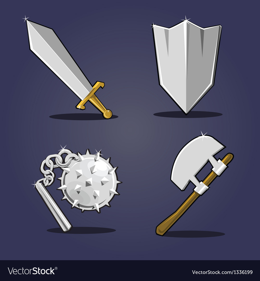 Ancient weapon collection vector | Price: 1 Credit (USD $1)