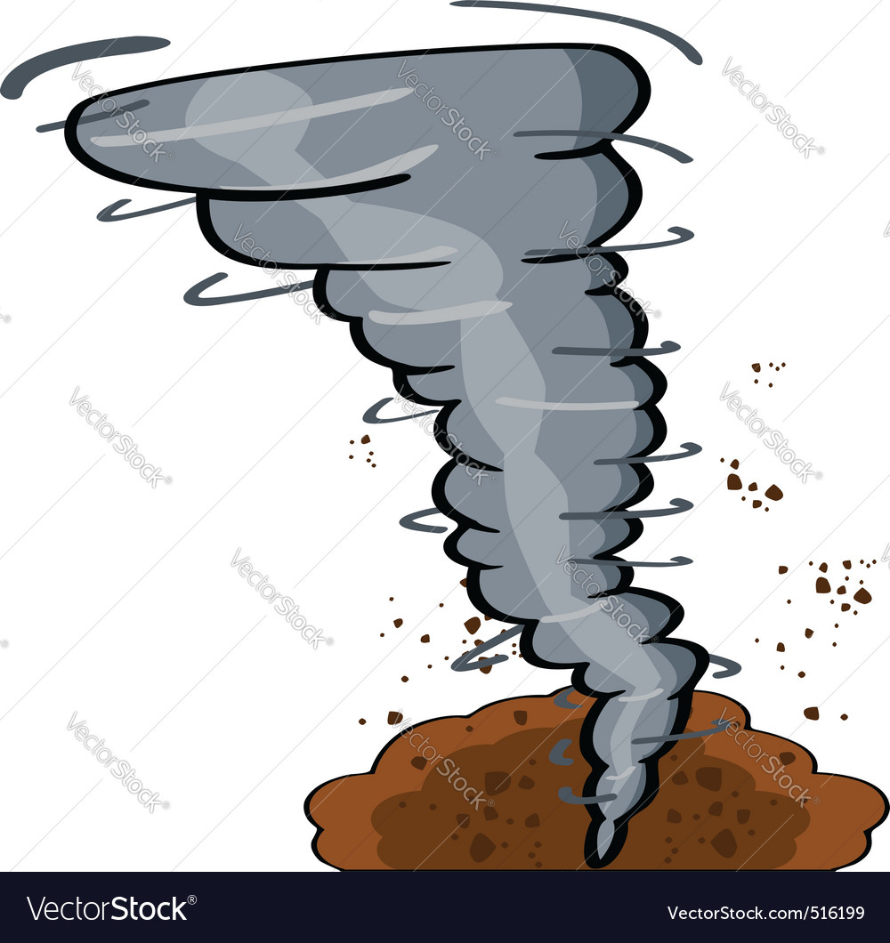 Cartoon tornado vector | Price: 1 Credit (USD $1)
