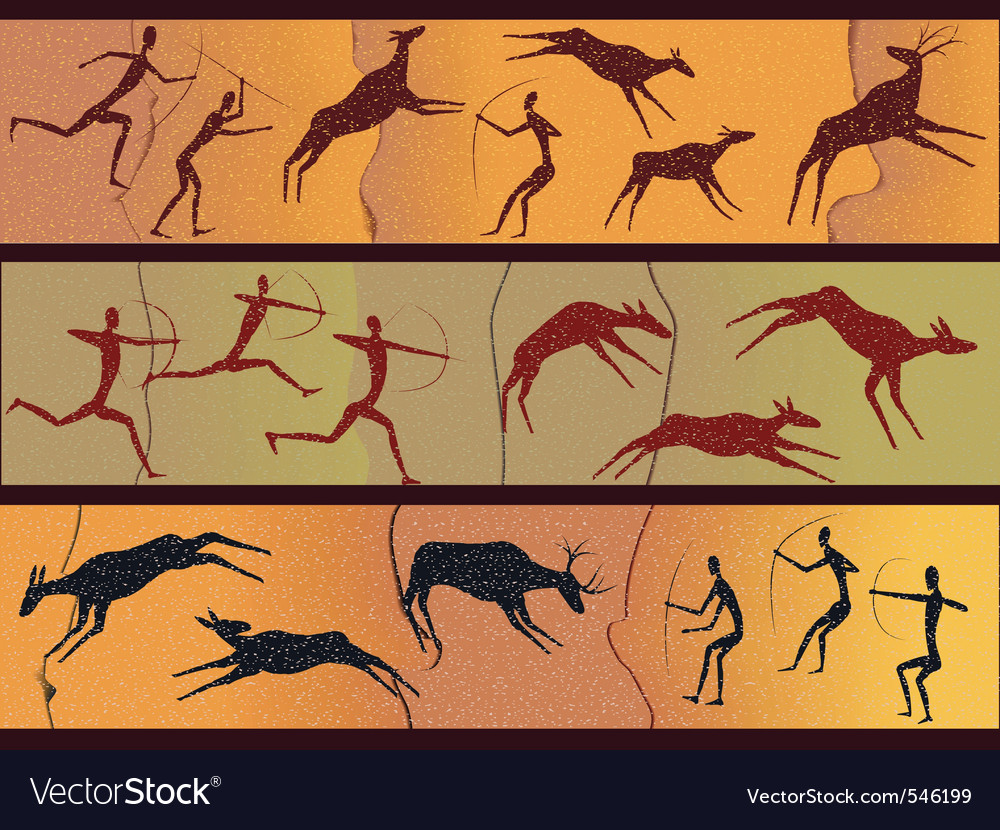 Cave figures vector | Price: 1 Credit (USD $1)