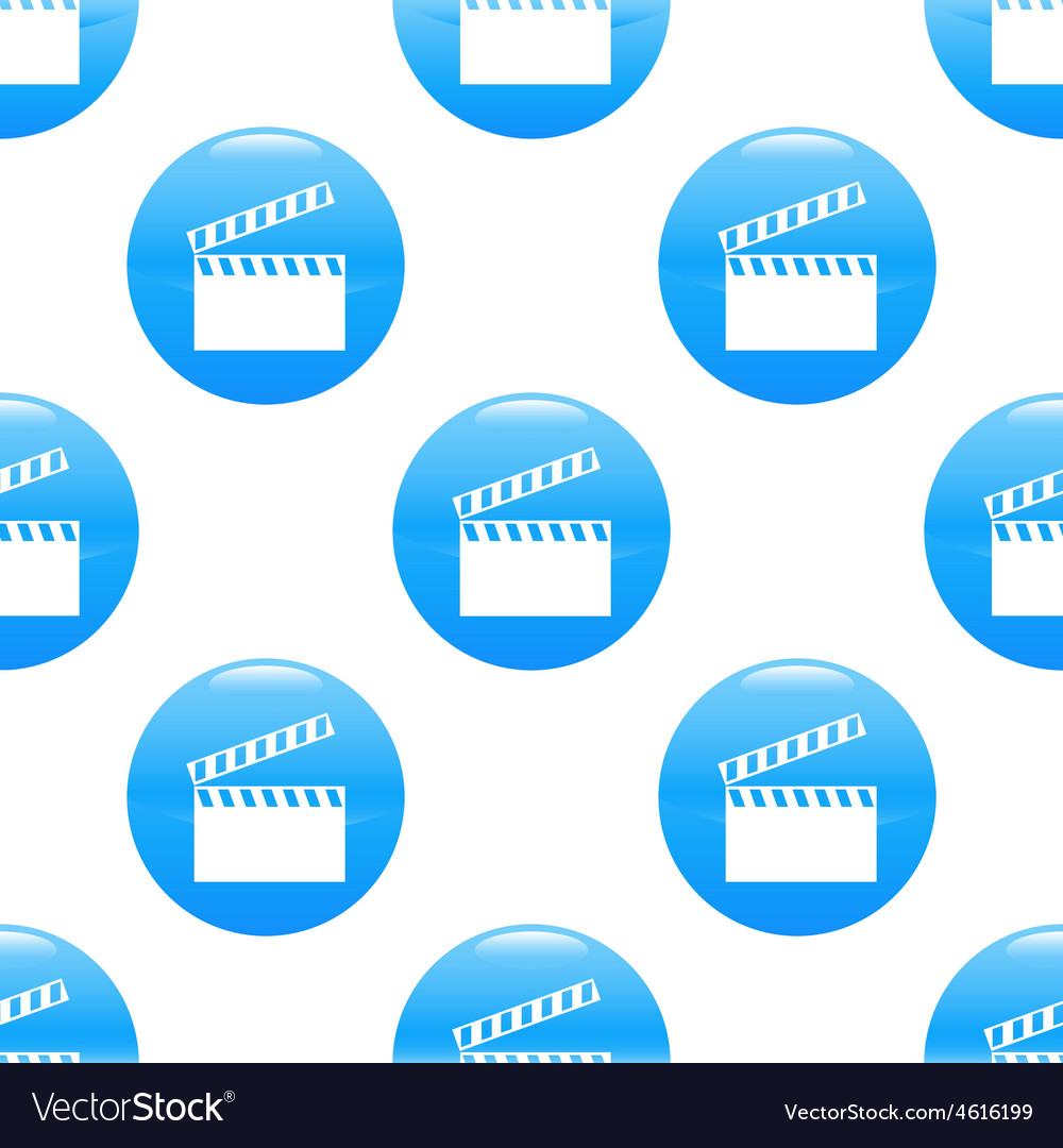 Clapperboard sign pattern vector   Price: 1 Credit (USD $1)