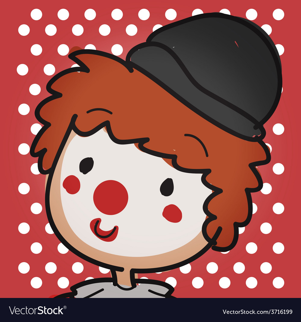 Clown close up vector | Price: 1 Credit (USD $1)