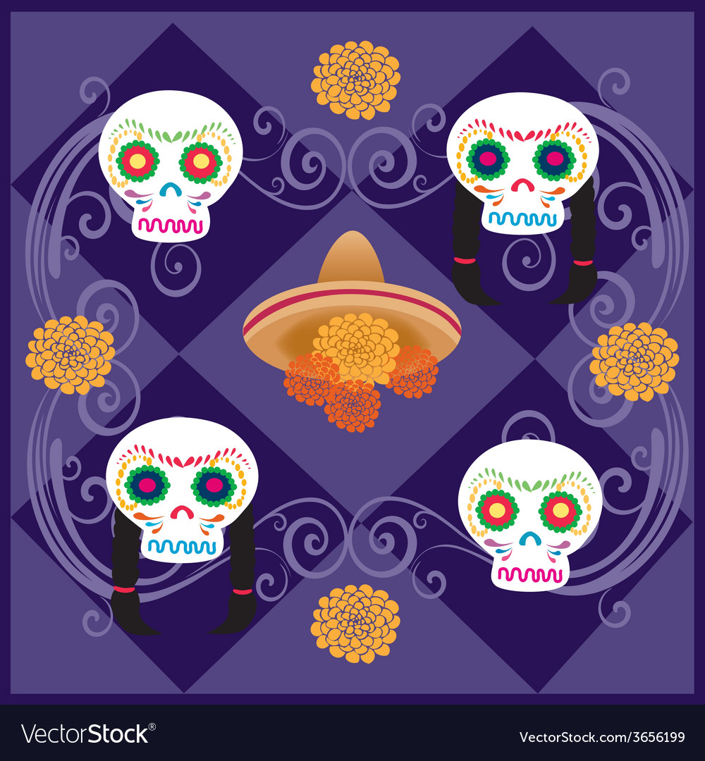 Day-of-the-dead-5 vector | Price: 1 Credit (USD $1)