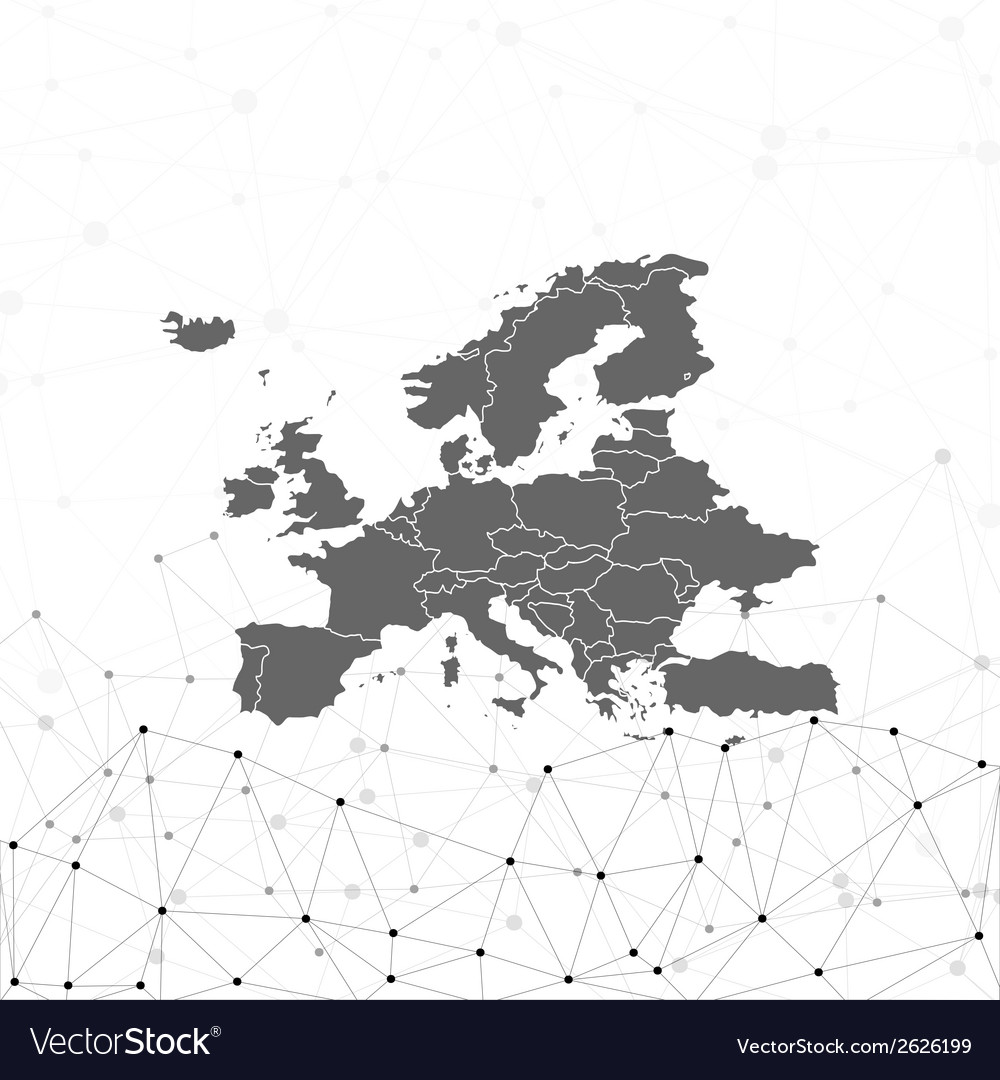 Europe map background  for communication vector | Price: 1 Credit (USD $1)