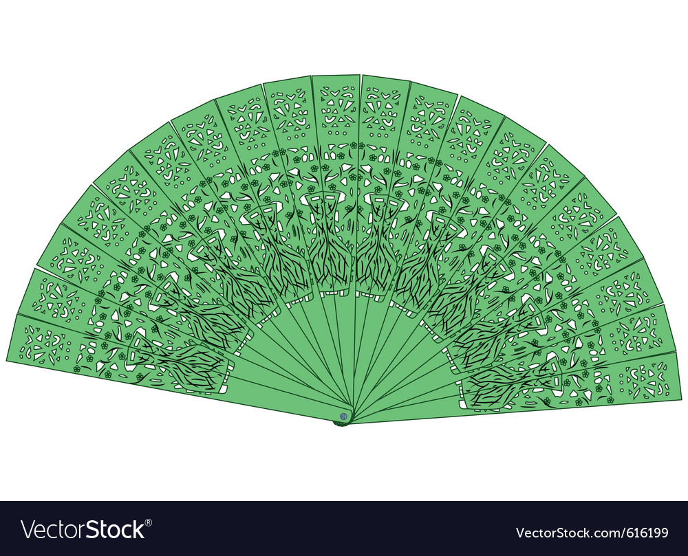 Green fan isolated on a white background vector | Price: 1 Credit (USD $1)