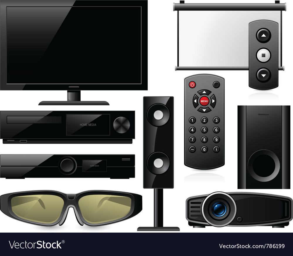 Home theater equipment vector | Price: 3 Credit (USD $3)