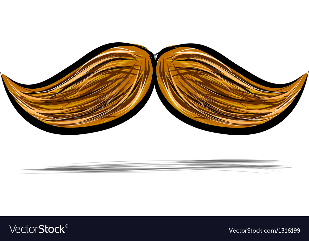 Mustache isolated on white vector | Price: 1 Credit (USD $1)