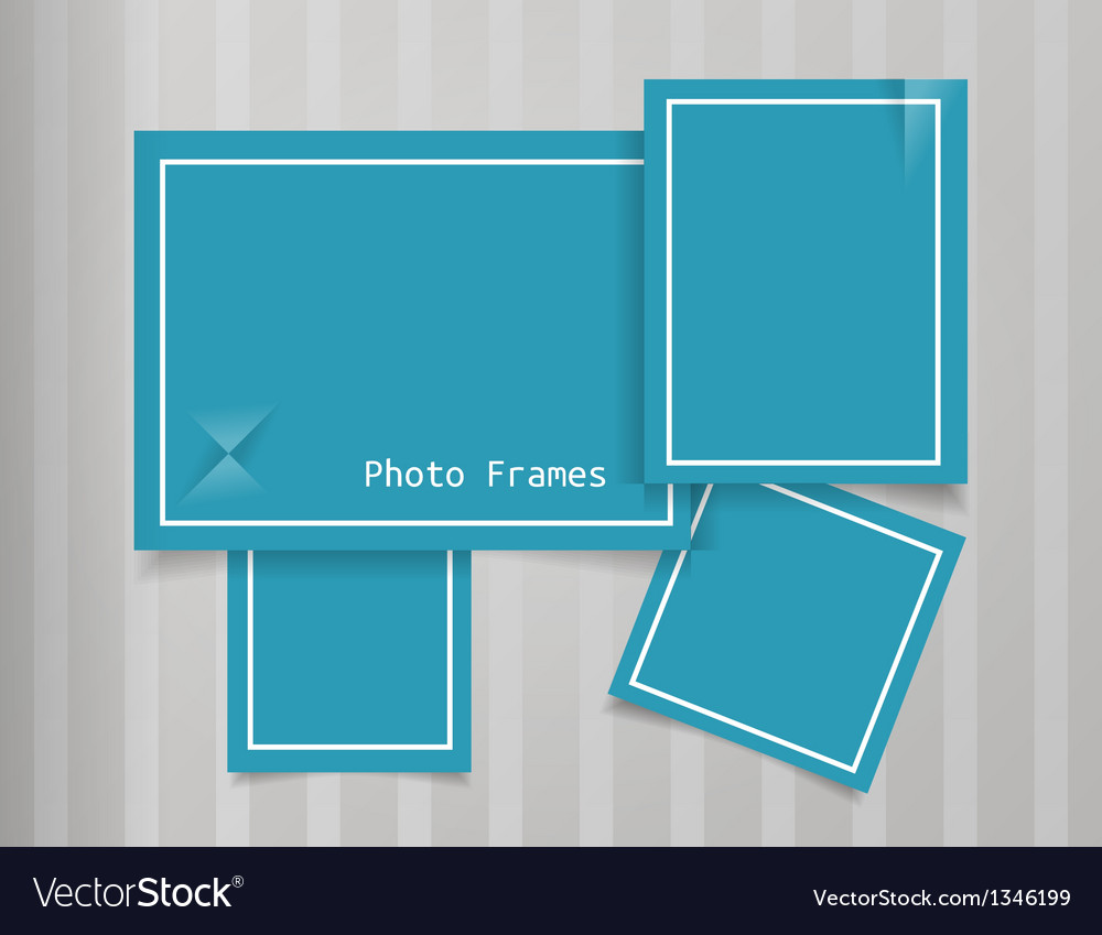 Photo frames design background vector | Price: 1 Credit (USD $1)