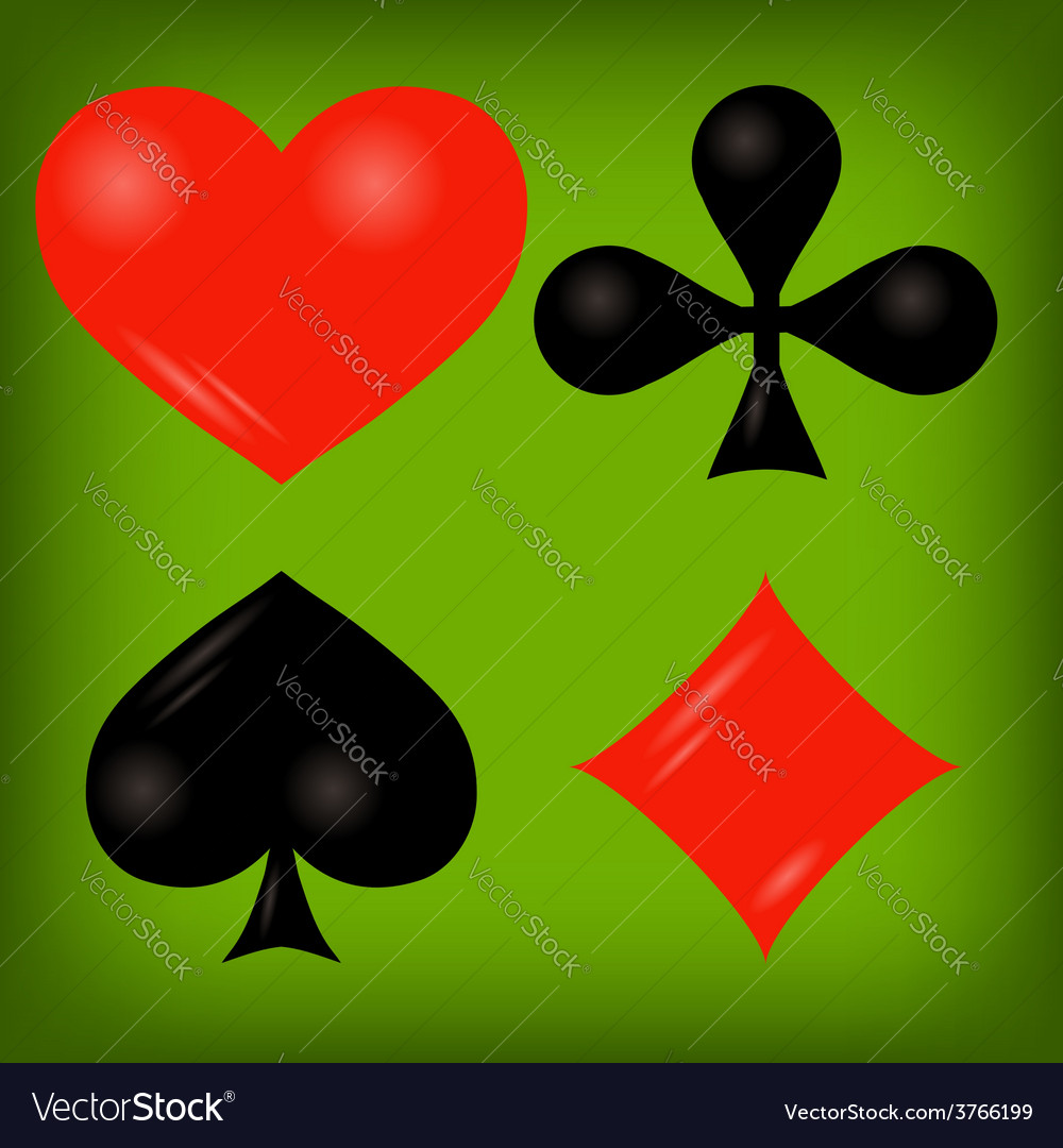 Playing cards elements vector | Price: 1 Credit (USD $1)