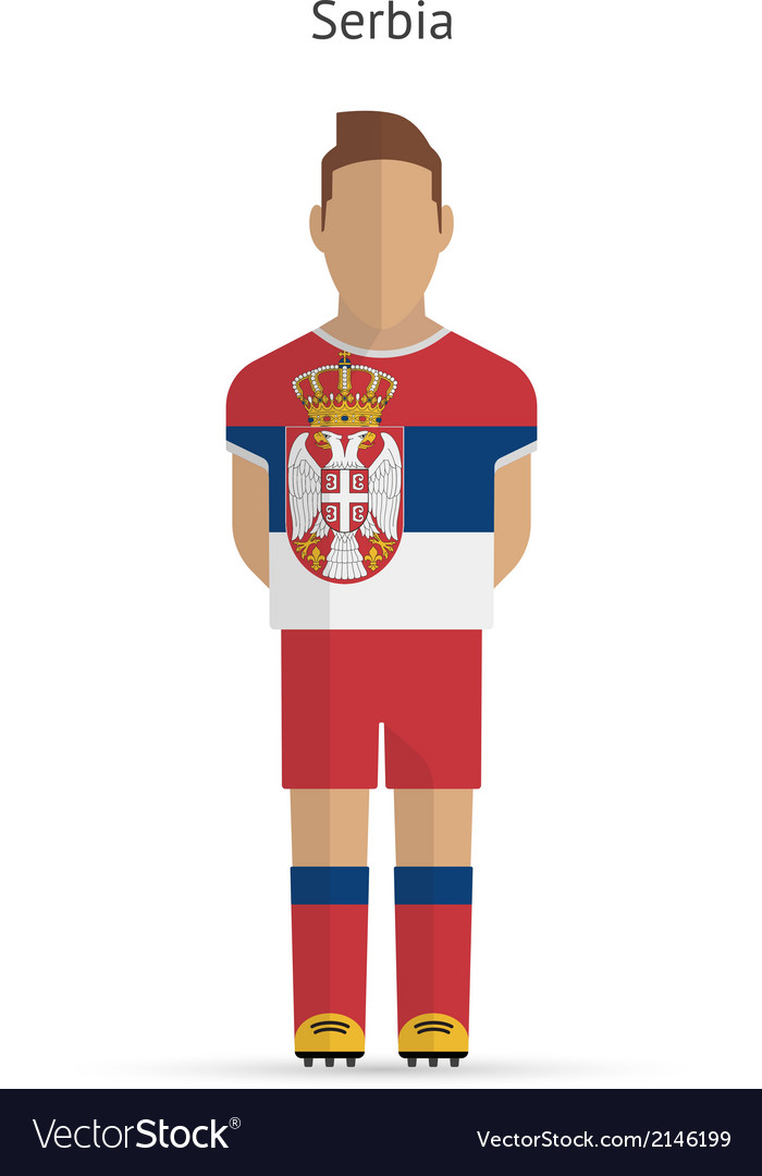 Serbia football player soccer uniform vector | Price: 1 Credit (USD $1)