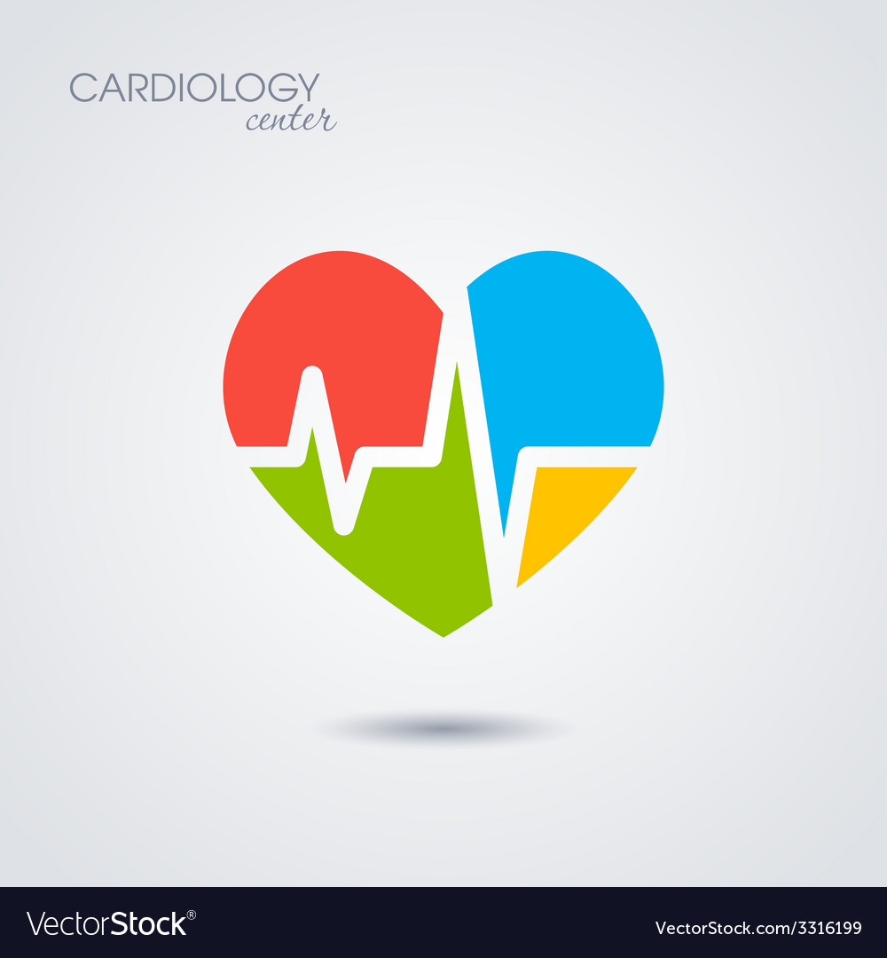 Symbol of cardiology isolated on white background vector | Price: 1 Credit (USD $1)