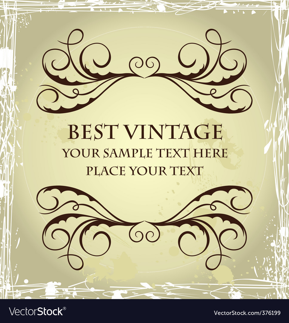 Vintage grunge template vector | Price: 1 Credit (USD $1)