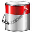 A tin of paint vector