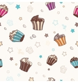 Pattern with muffins vector