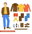 Business man clothes icons vector