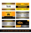 Business card taxi - fourth set vector