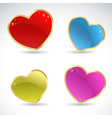 Glamour sparkling valentine glass colorful hearts vector